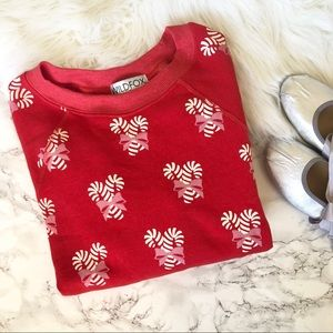 Wildfox Tops - Wildfox Sweet Treat Candy Cane Sweatshirt